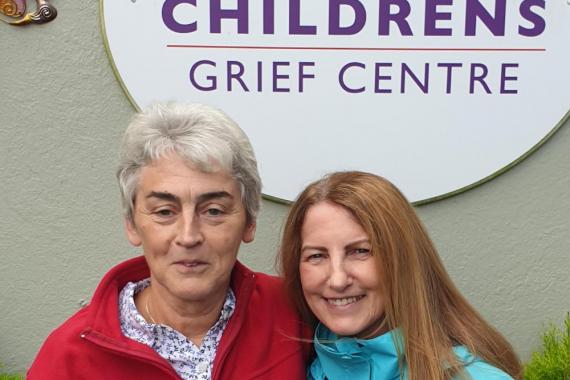 Lorna Byrne and Helen Culhane